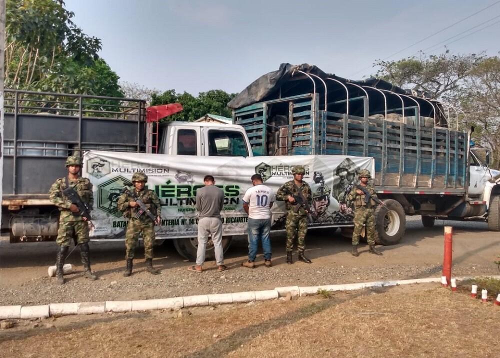 357498_BLU Radio. Capturados Gasolina / Foto:Ejército Nacional