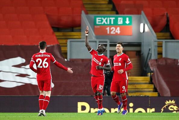 Sadio Mané Liverpool vs West Bromwich