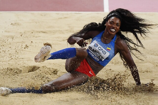 Caterine Ibargüen, en los Juegos Olímpicos de Tokio