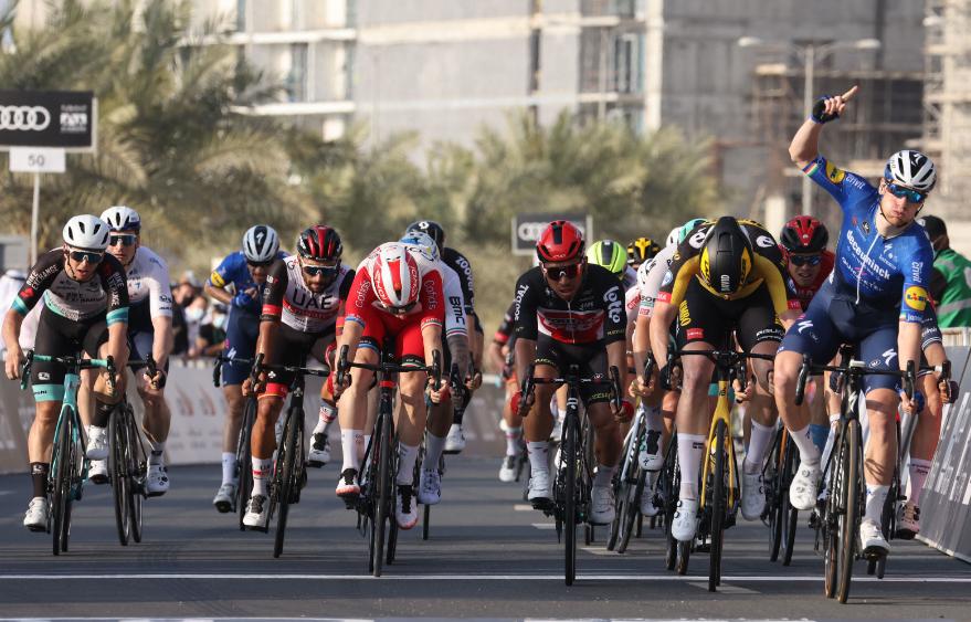 Fernando Gaviria fue noveno en la etapa 4 del UAE Tour.