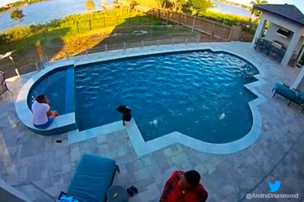 Estrella de la NBA salvó a su hijo en una piscina
