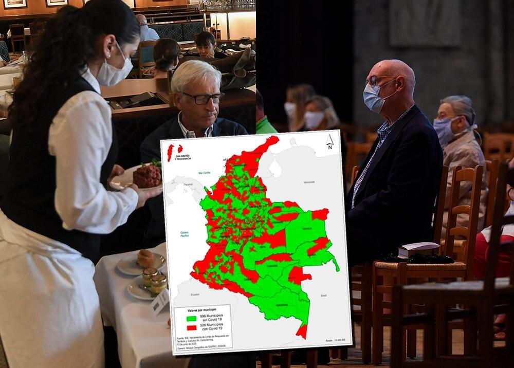 367640_Reapertura de restaurantes e iglesias en poblaciones 'no-COVID' // Imágenes: AFP - MinSalud
