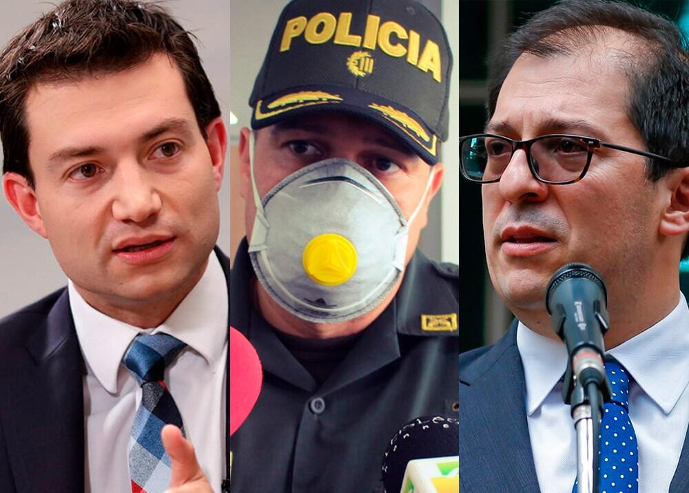 369819_Contralor Felipe Córdoba, coronel Jorge Urquijo y fiscal Francisco Barbosa // Fotos: archivo Auditoría, Policía Nacional y Fiscalía