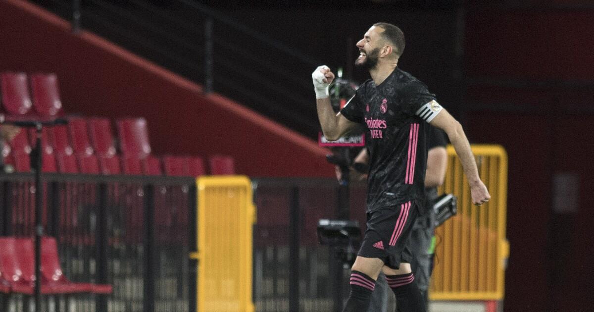 Vea el gol de Karim Benzema hoy, Granada vs Real Madrid, en la Liga de España