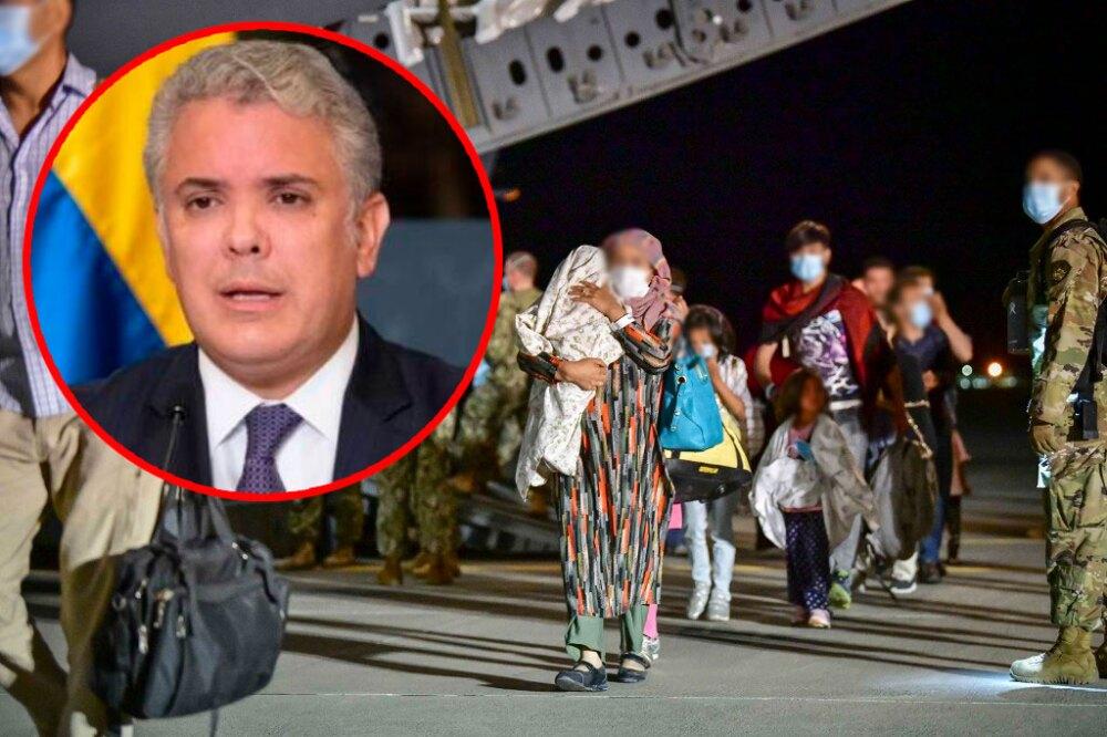 Iván Duque - migrantes afganos