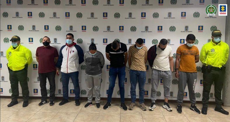 Policías capturados por corrupción en Medellín, Antioquia.jpeg
