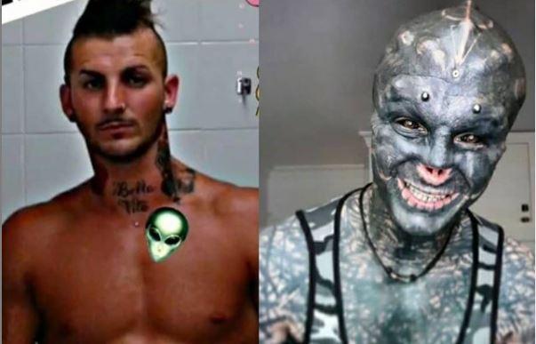 El cambio físico de un hombre que busca parecer un alienígena negro.JPG