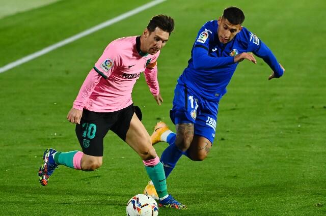 Messi Barcelona vs Getafe