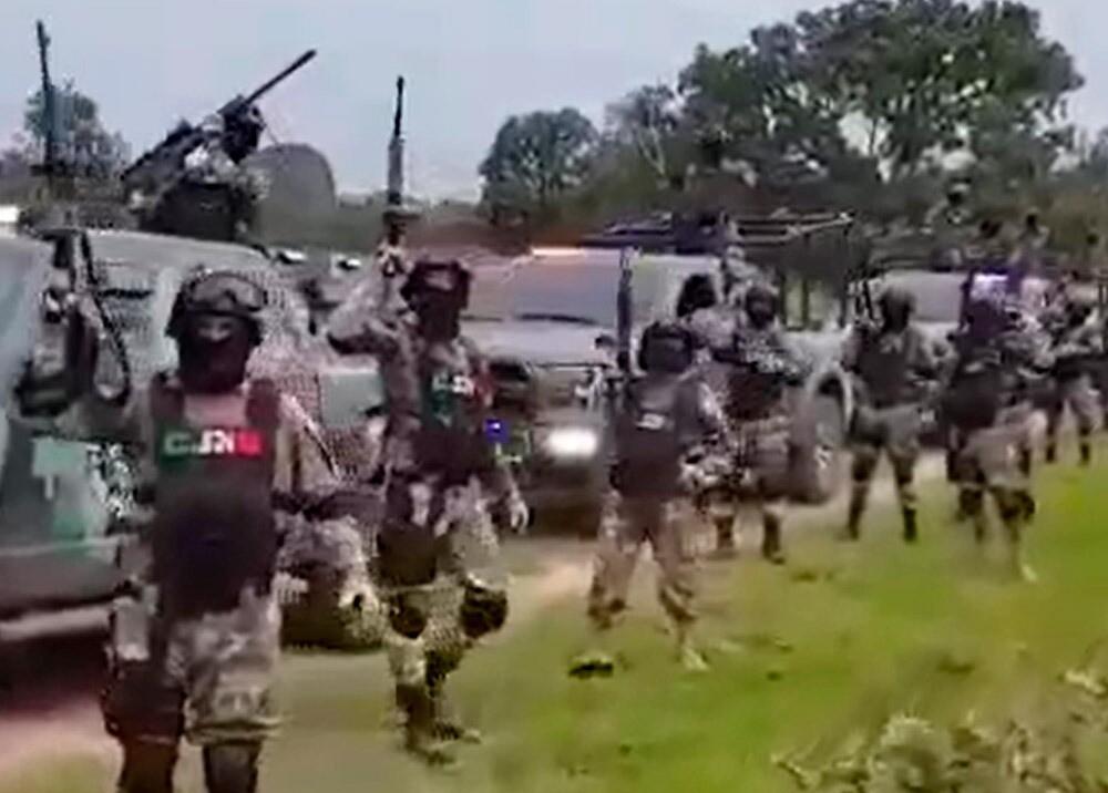 371735_Video muestra supuesto poderío militar del CJNG // Foto: captura video redes
