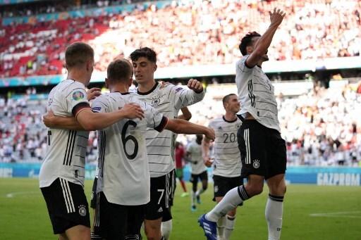 Los jugadores de Alemania festejan