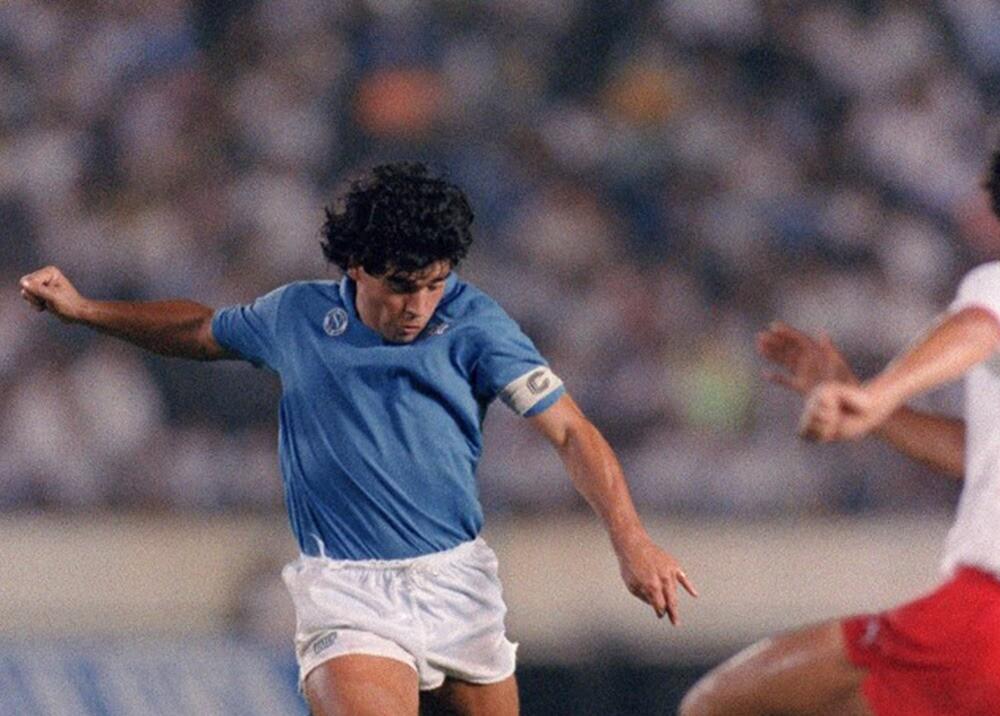 Diego Maradona en el Napoli : AFP.jpeg