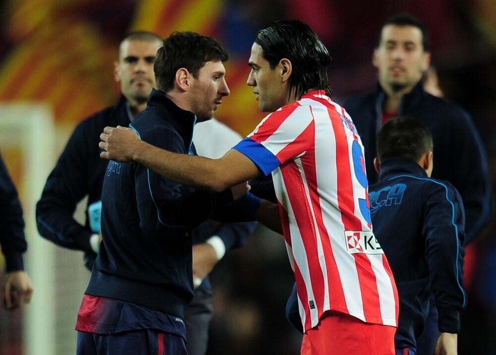 346188_Lionel Messi y Radamel Falcao // Foto: AFP