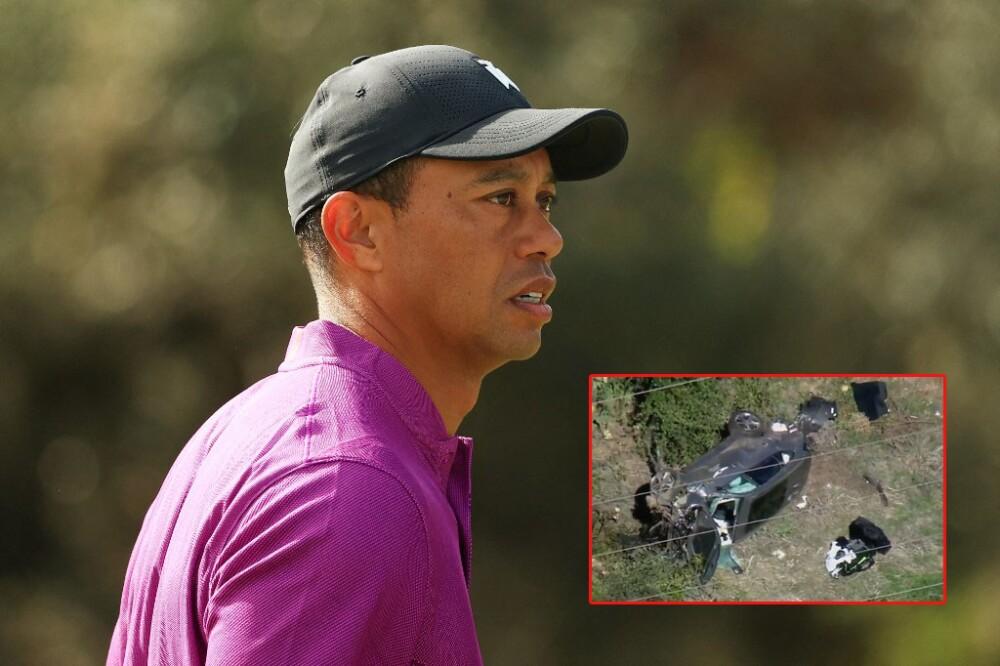 Tiger Woods sufrió un accidente de tránsito. Foto AFP - TMZ
