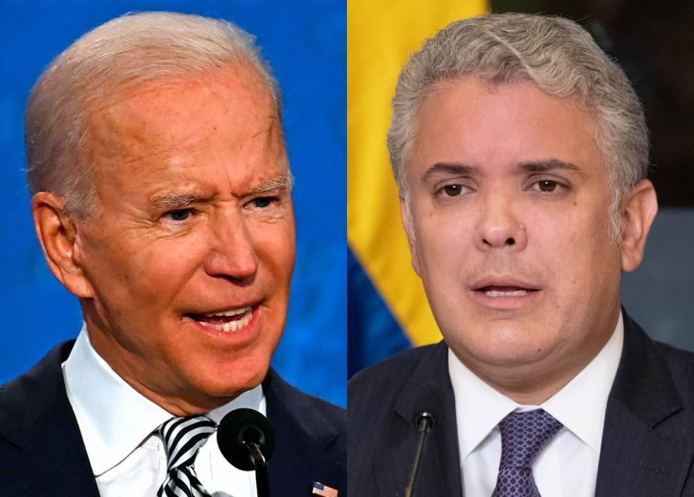 Joe Biden e Iván Duque