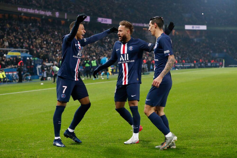 Neymar, Mbappé y Di María, jugadores del PSG