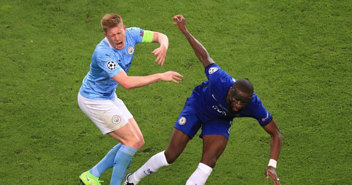 ¡Con razón salió de la final de Champions League! Kevin De Bruyne sufrió dos fracturas en el rostro