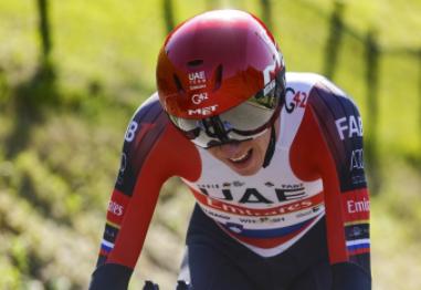 Tadej Pogacar perdió 28 segundos con Primoz Roglic en la contrarreloj de la Vuelta al País Vasco.