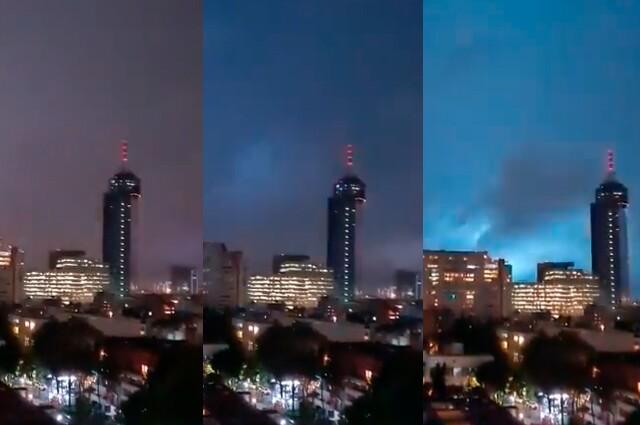 extranas luces durante terremoto en mexico