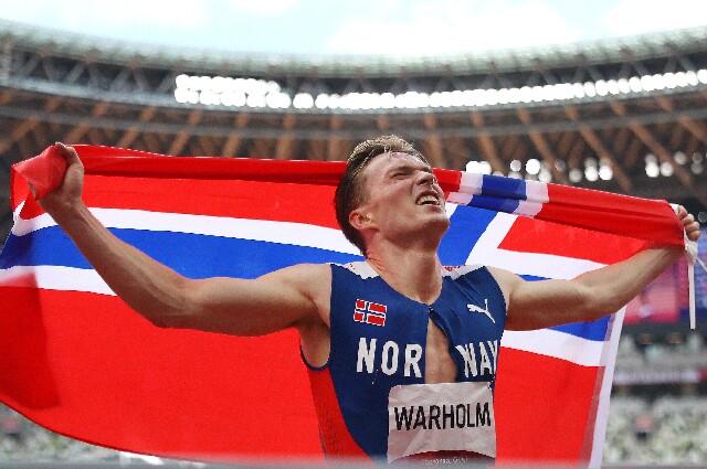 Karsten Warholm, en los Juegos Olímpicos de Tokio 2020