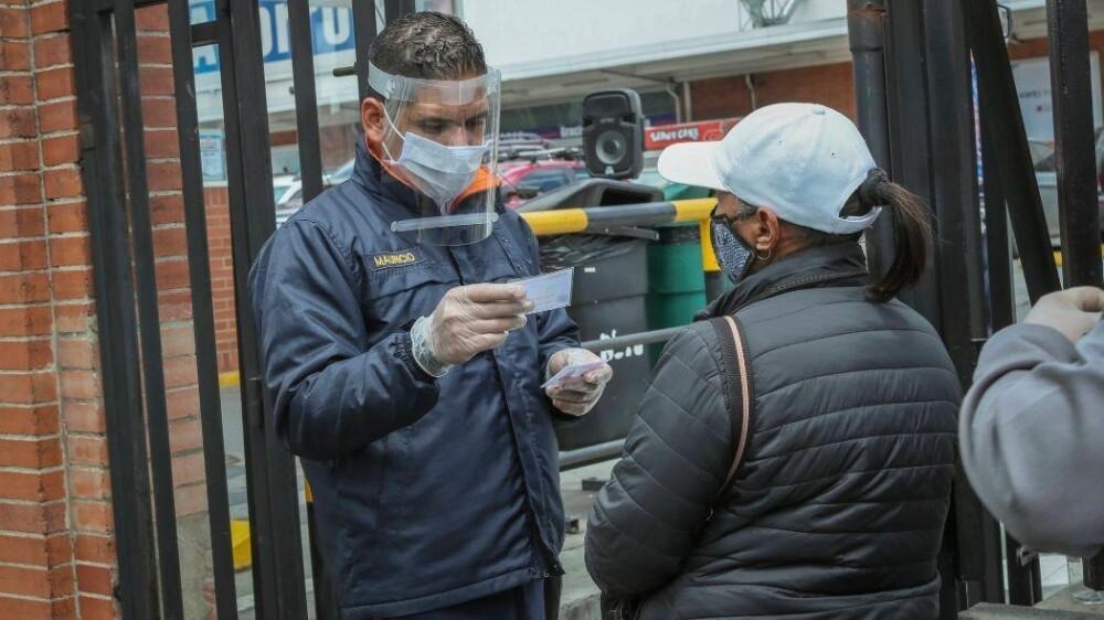 Controles en Bogotá durante la pandemia