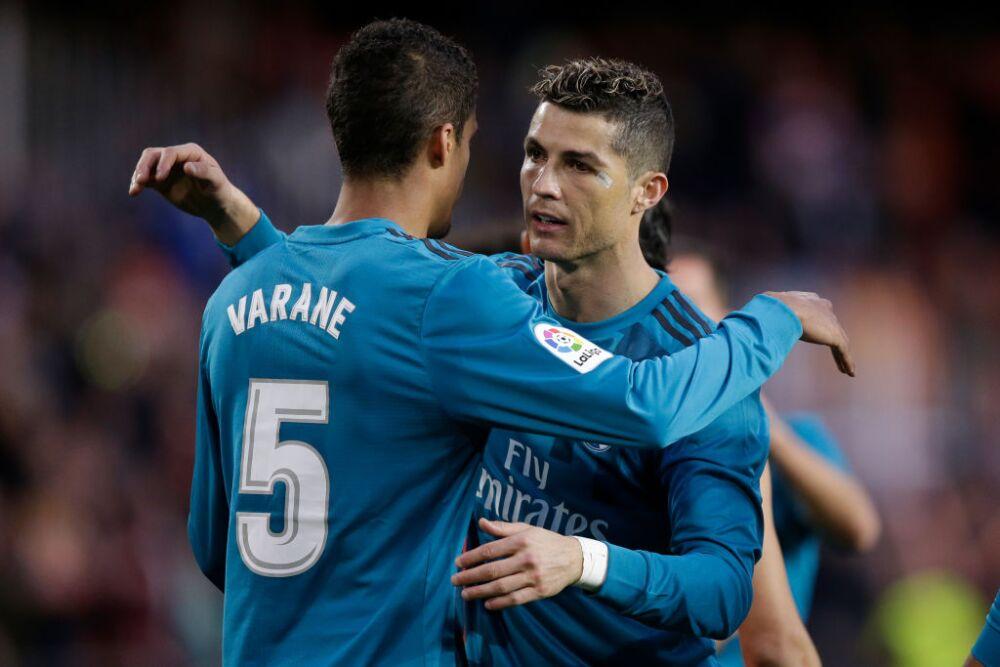 Varane y Ronaldo