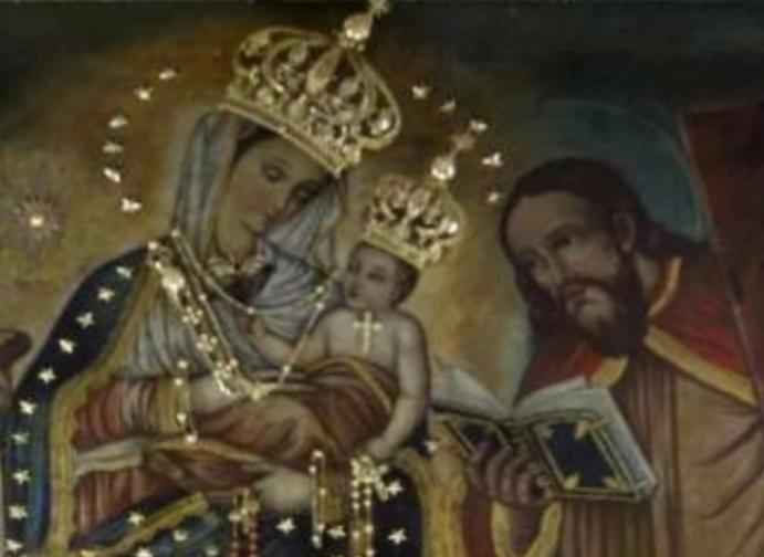 Estatua de la Virgen de Chiquinquirá