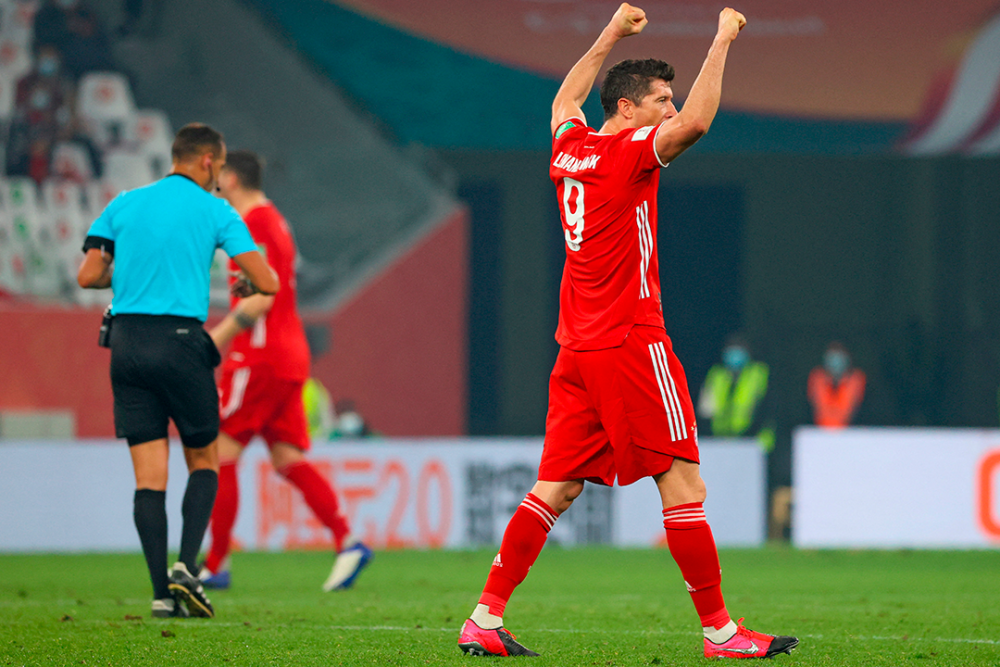 Robert Lewandowski, jugador del Bayern Múnich. AFP.png