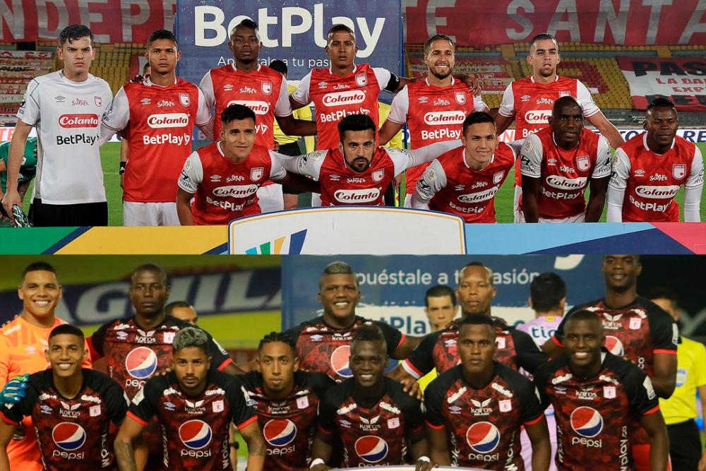 Independiente Santa Fe y América de Cali son los finalistas de la Liga colombiana 2020. Dimayor.png