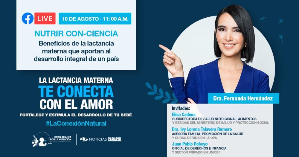 Beneficios de la lactancia materna al desarrollo del país: Facebook Live con la doctora Fernanda Hernández