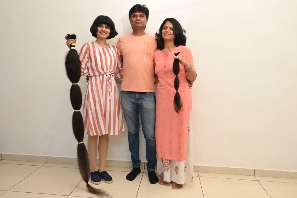 Nilanshi Patel, la 'Rapunzel' india que cortó su cabello