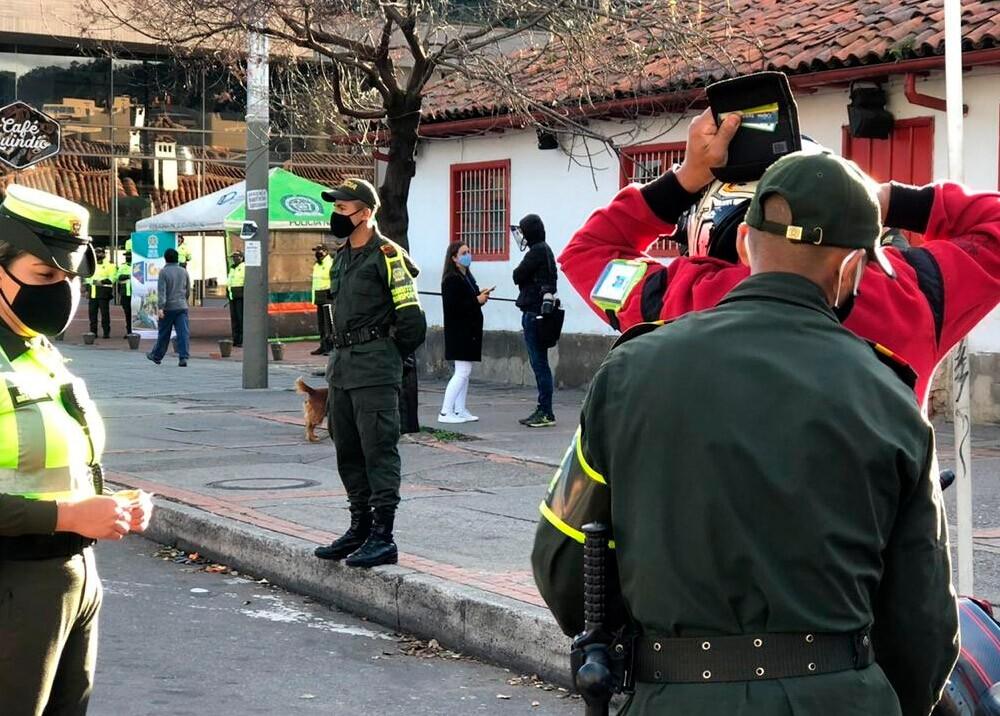372364_Operativos policiales en Usaquén durante la pandemia // Foto: cortesía Policía