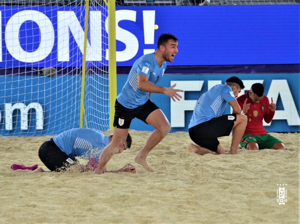 Uruguay contra Portugal, en el Mundial de Fútbol Playa