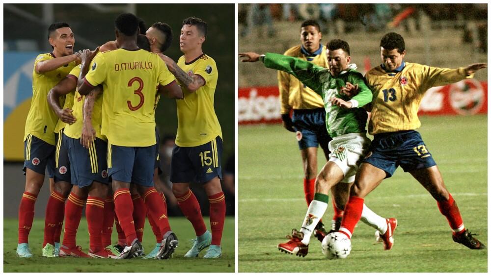 Julio César Baldivieso, jugador de Bolivia, contra la Selección Colombia
