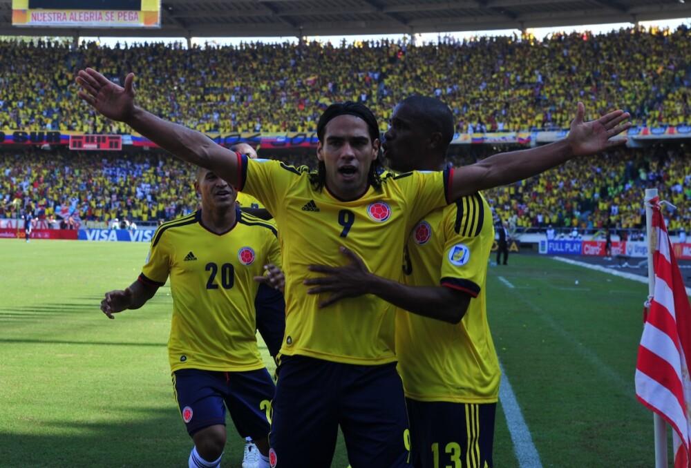 Triunfo de Colombia ante Uruguay en 2012 / AFP