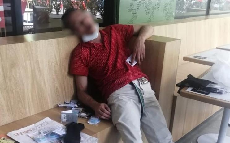 Presunto ladrón se quedó dormido en local que pretendía robar