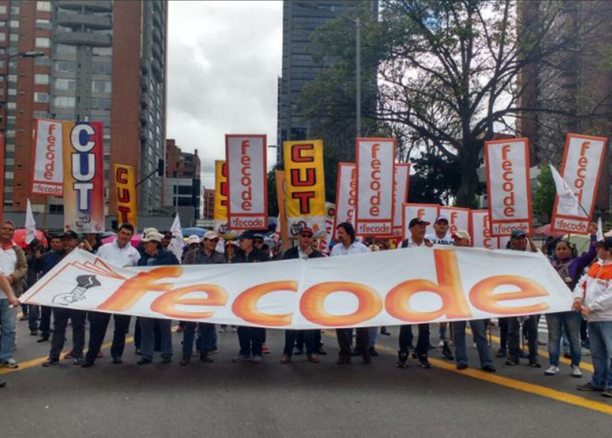 285175_BLU Radio. paro de maestros / Foto: Referencia Twitter @CUTColombia
