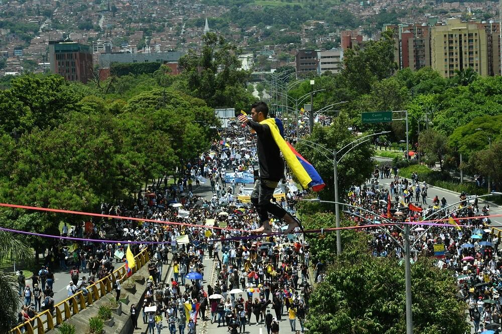 marchas en Medellín