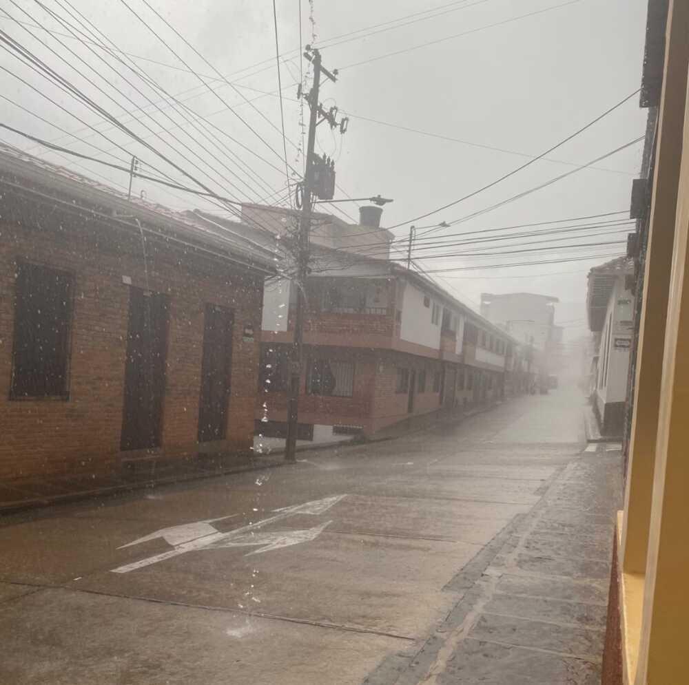 Fuertes lluvias en Santander / Foto Cortesía