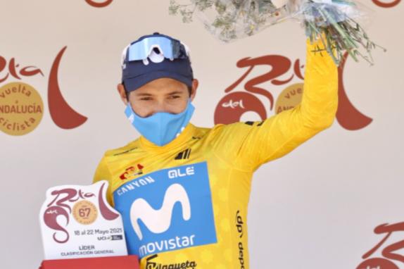 Miguel Ángel López se mantuvo líder en la Vuelta a Andalucía.