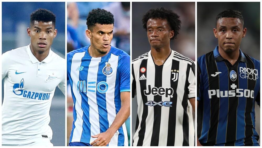 Jugadores colombianos en Champions League 2021/22