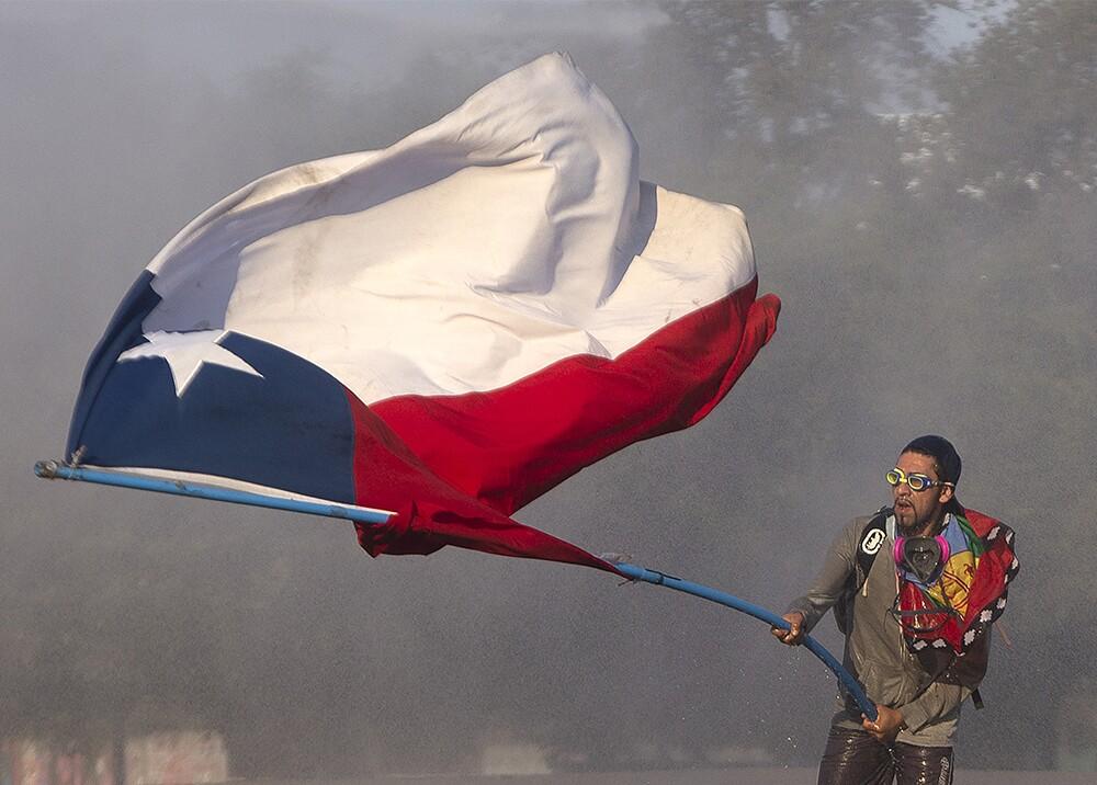 347602_BLU Radio. Protestas en Chile. Foto: AFP