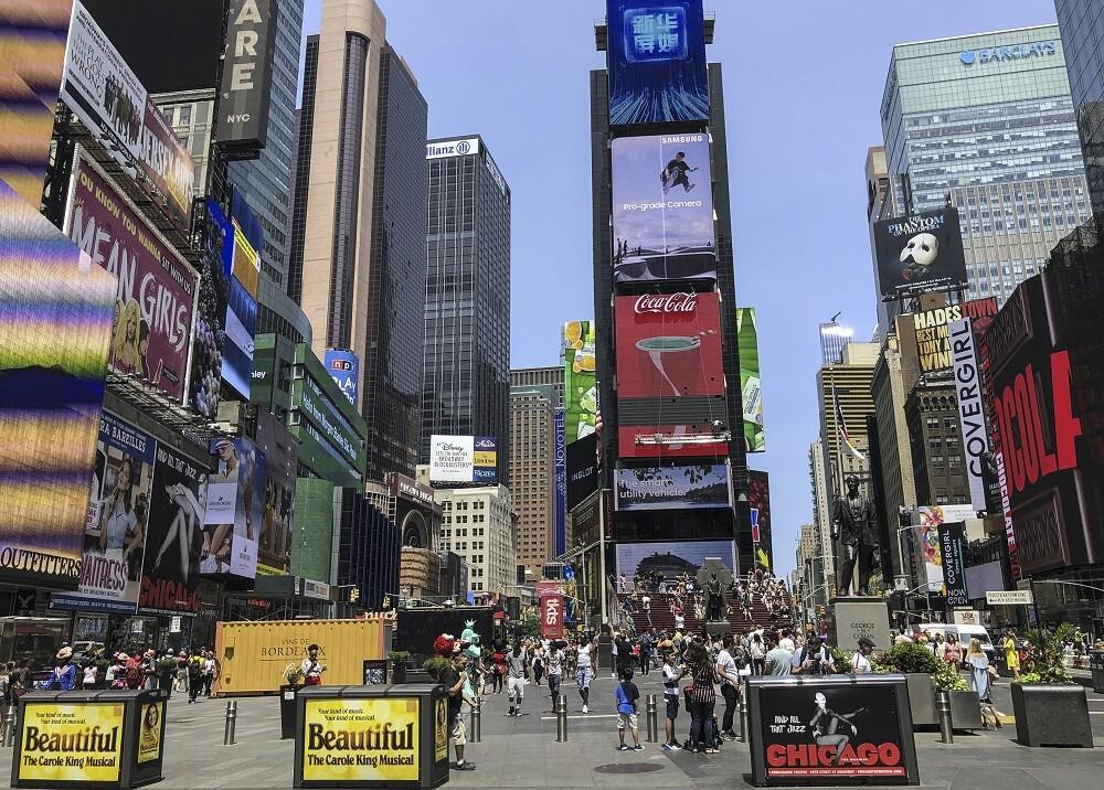 338696_BLU Radio. Times Square, Nueva York // Foto: AFP