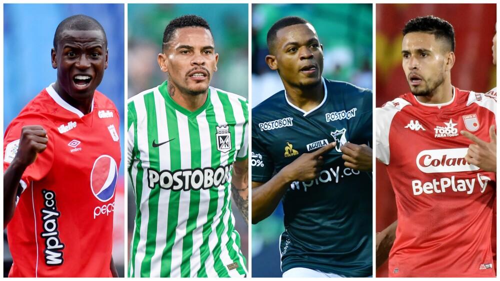 América de Cali, Atlético Nacional, Deportivo Cali e Independiente Santa Fe, en la Copa Colombia