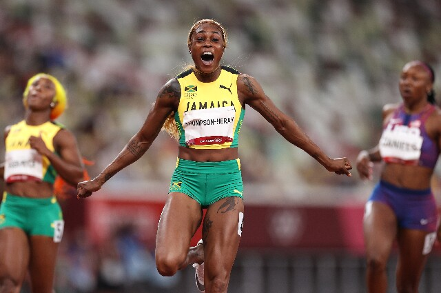 Elaine Thompson, oro en los Juegos Olímpicos de Tokio 2020