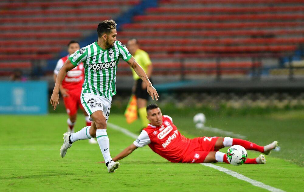Partido entre Nacional y Santa Fe, por la fecha 1 de la liga colombiana I-2021. Dimayor.jpeg