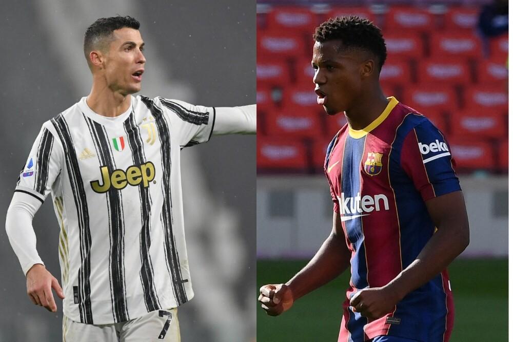 Cristiano Ronaldo y Ansu Fati