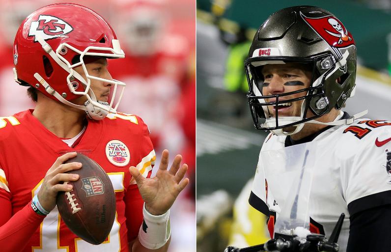 Patrick Mahomes y Tom Brady se verán las caras en el Super Bowl.