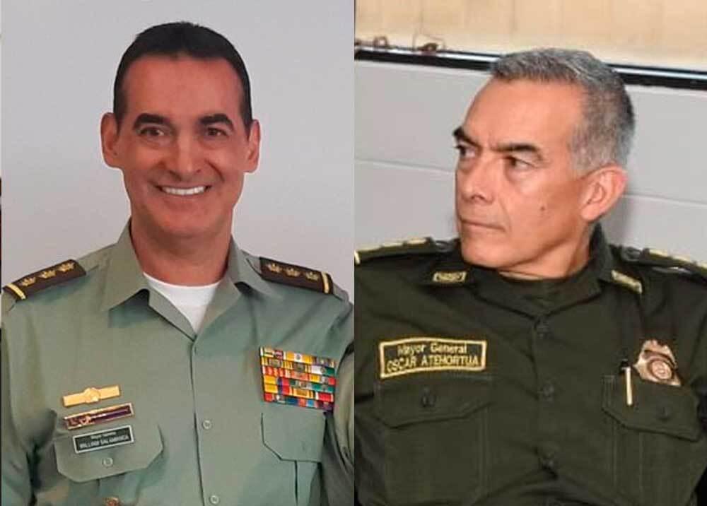 351374_BLU Radio. General Salamanca y General Atehotúa // Foto: Cortesía Policía Nacional