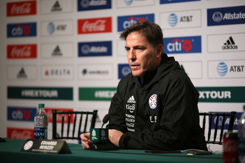 Paraguay Training And Press Conference