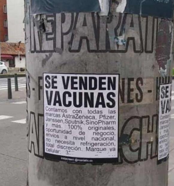 Venta vacunas falsas